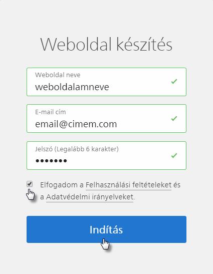 Hogyan regisztrálj weboldalt