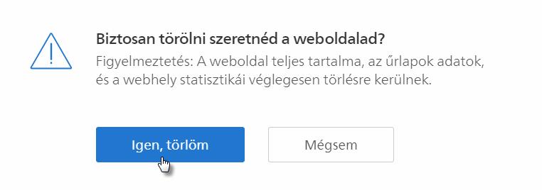 Hogyan tudod törölni a weboldalad