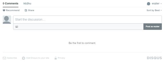 Hogyan illessz be Disqus fórumot
