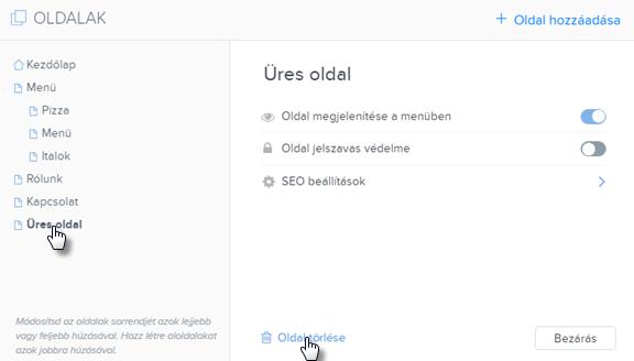 Hogyan törölhetsz egy oldalt a a weboldalról