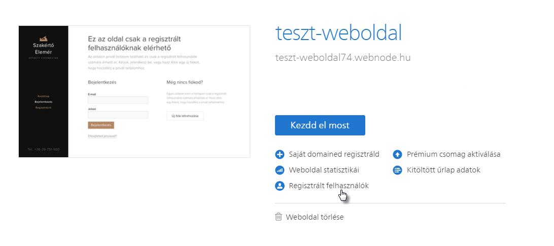 Felhasználó regisztráció jóváhagyása