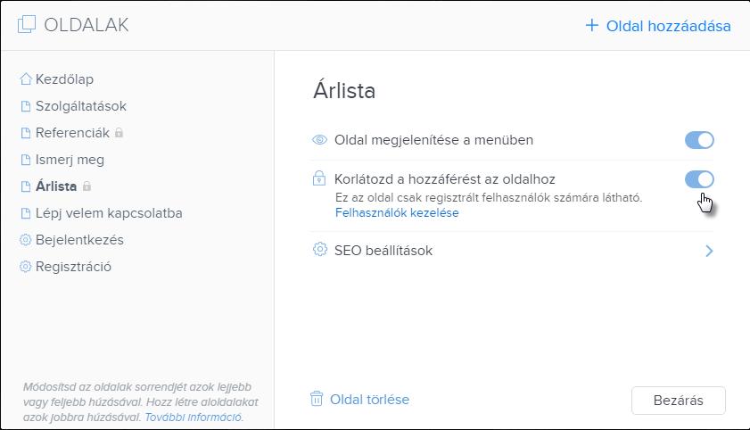 Felhasználó regisztráció kikapcsolása