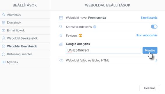 Hogyan illeszd be a Google Analytics kódját