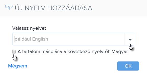 Hogyan tudok új nyelvet hozzáadni a weboldalamhoz