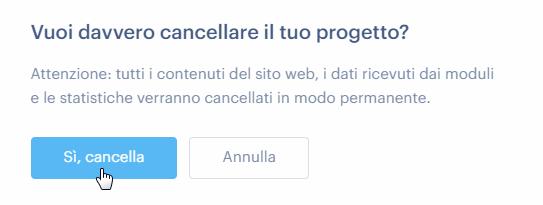 Come cancellare un sito web