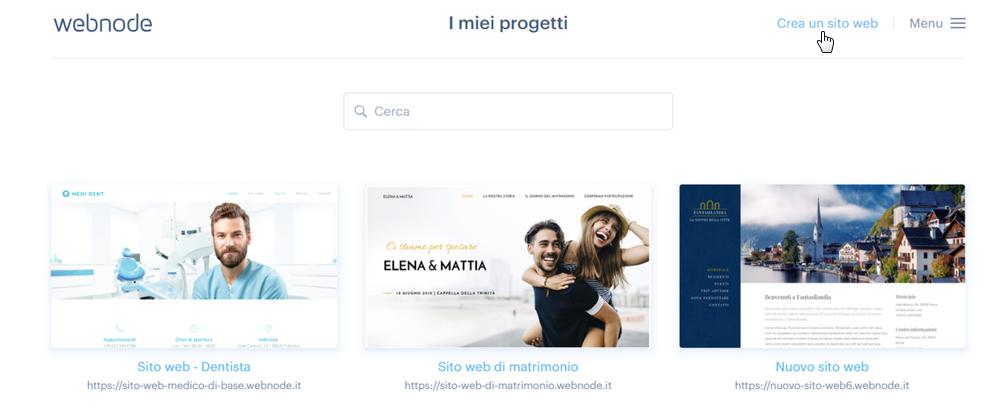 Come creare un altro sito web