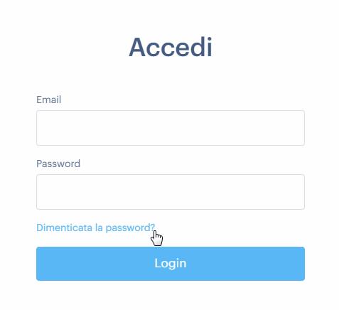Come ripristinare la password