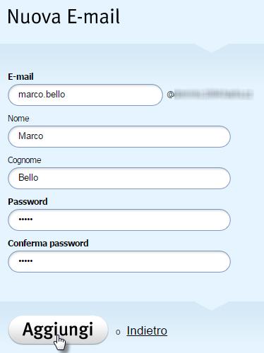 Creare una casella email
