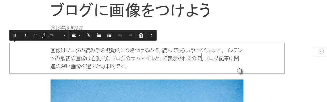 ブログテキスト編集