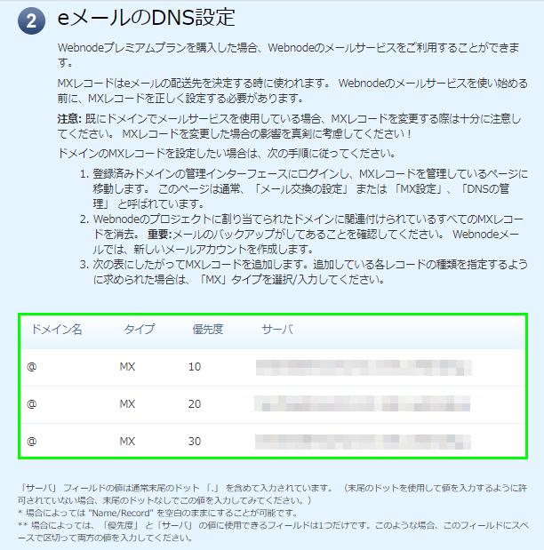 DNS設定画面