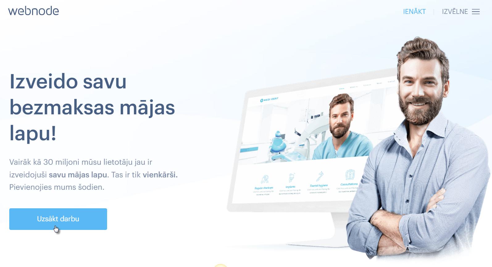 Kā reģistrēties ar Webnode