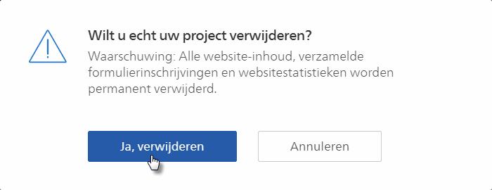 Hoe kan ik Een Website Verwijderen