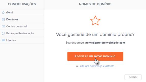 Registrar domínio