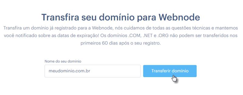 Usar domínio em Webnode