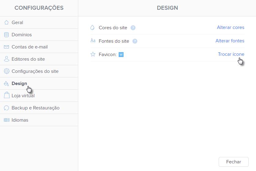 Como adicionar favicon no site Webnode