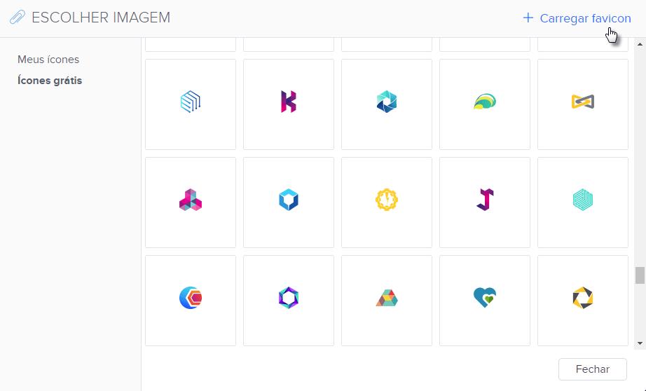 Como carregar favicon para site Webnode