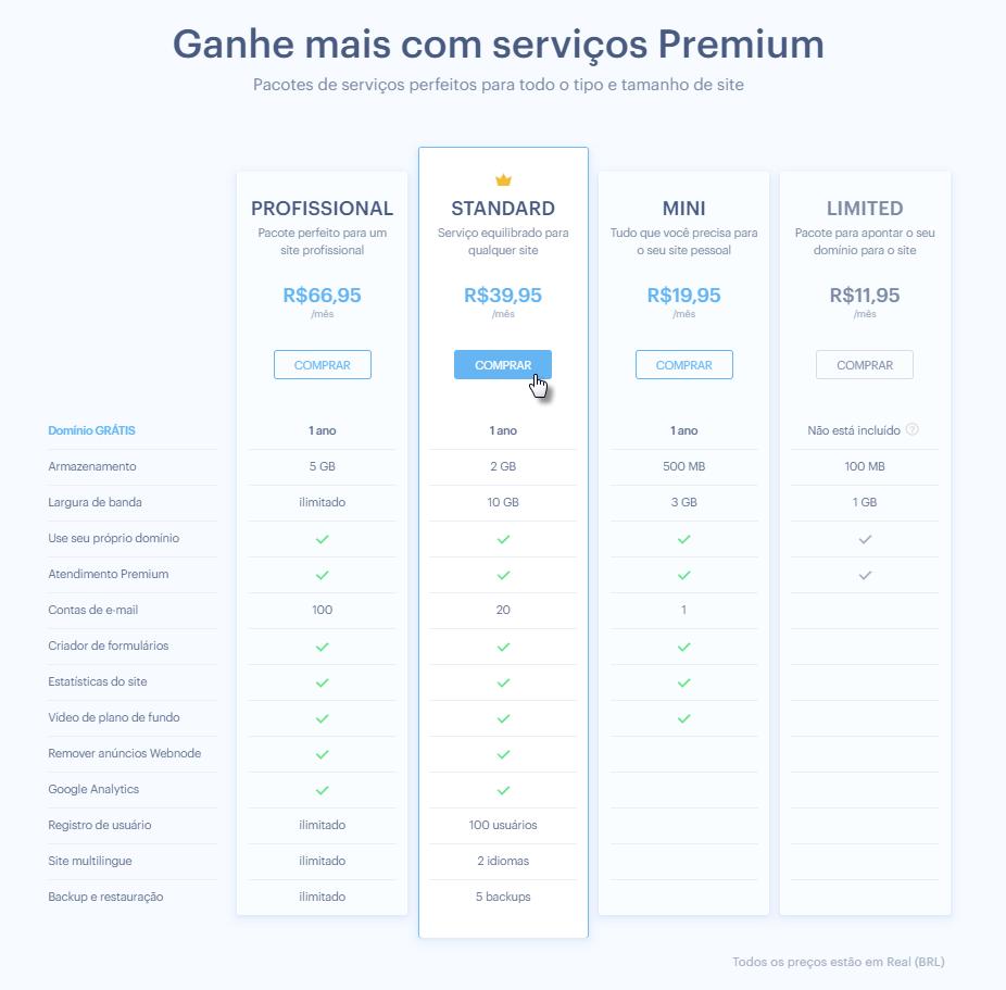 Comprar serviço Premium