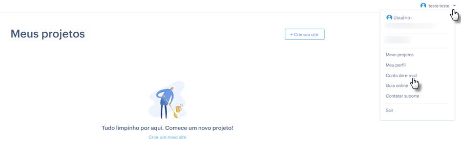 Como acessar email da Webnode