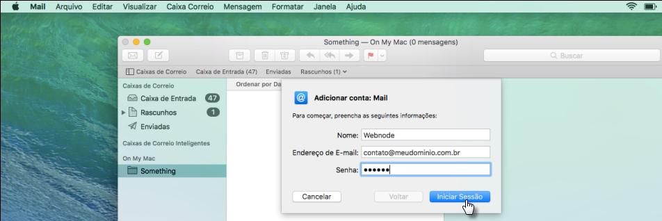 Configurar e-mail no MacOS