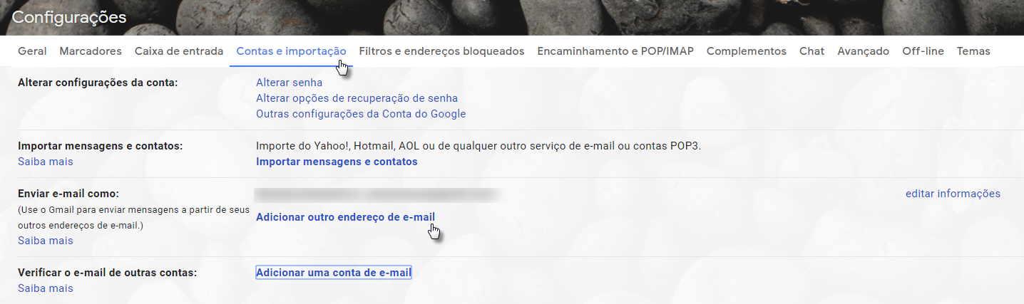 Configurar Webmail no Gmail