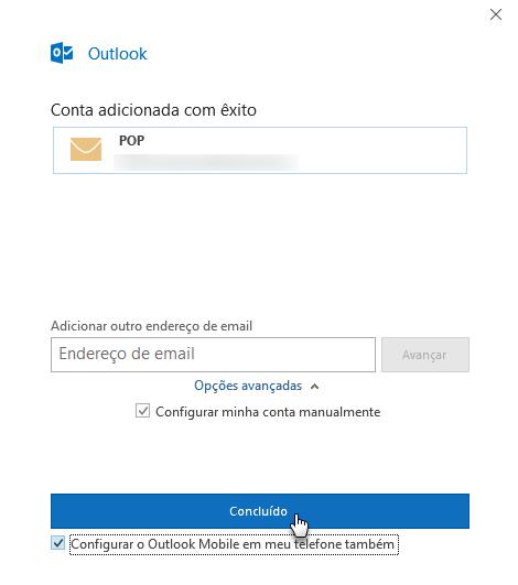 Configurar e-mail no Outlook