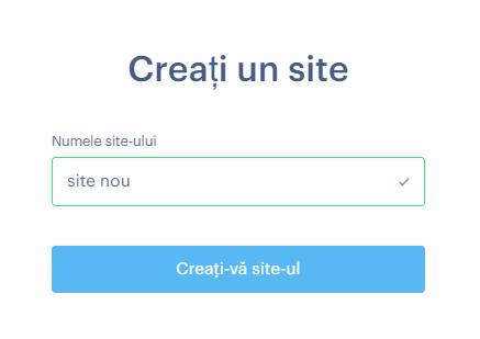 Cum să creați un site nou