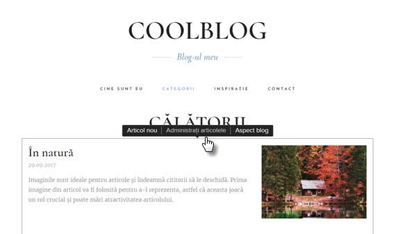 Adăugați categorii de blog