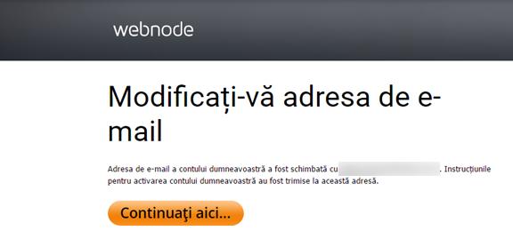 Cum să modificați adresa de conectare la contul Webnode