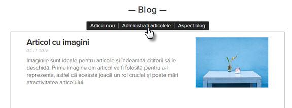 Administrați blog-ul