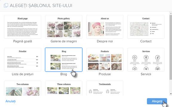 Adăugați o pagină de blog
