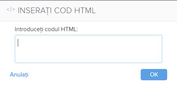 Adăugați un cod HTML