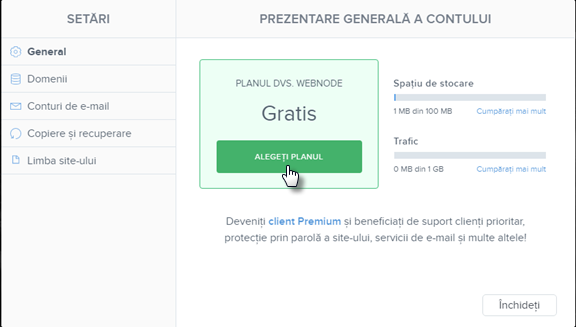 Achiziționați servicii Premium