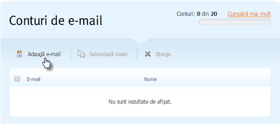 Creați adrese de e-mail