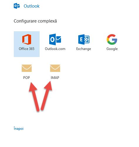 Folosiți adresa de e-mail cu Microsoft Outlook 2016