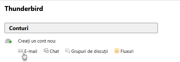 Folosiți adresa de e-mail cu Mozilla Thunderbird