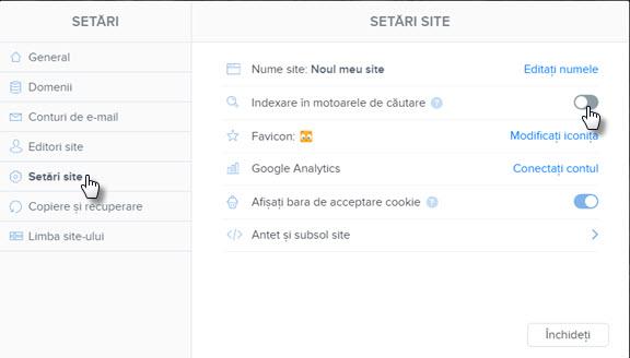 Ascundeți o pagină de motoarele de căutare