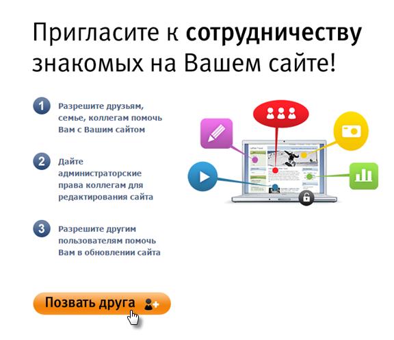 Как пригласить к редактированию сайта других пользователей