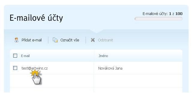 Nastavení přeposílání e-mailových zpráv