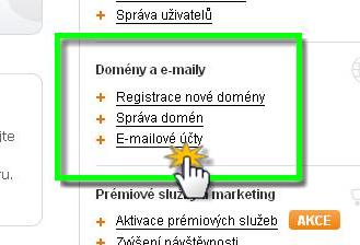 Vytvoření a nastavení e-mailů vaší domény