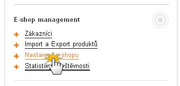 Export produktů do internetových srovnávačů