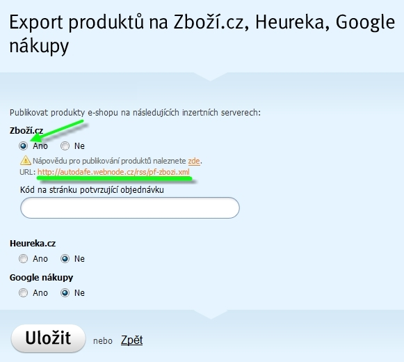 Export na Zboží
