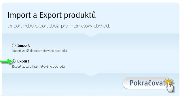 Export a import produktů