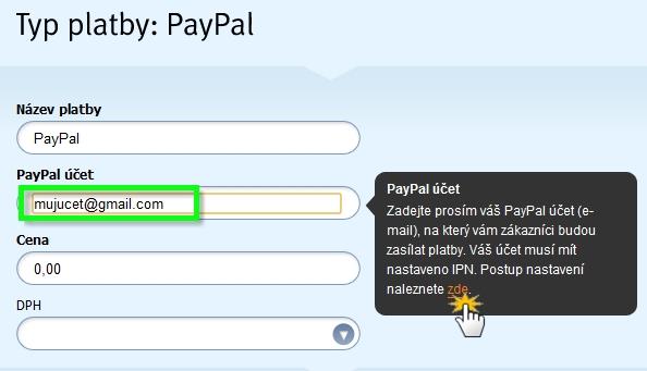 Nastavit PayPal