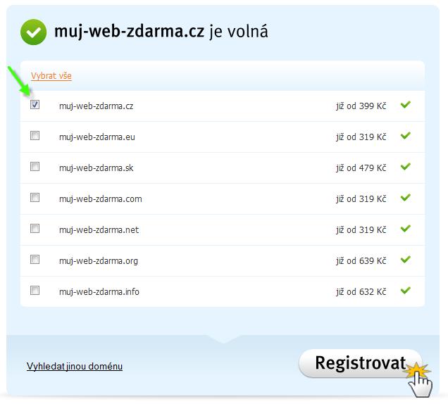 Jak zaregistrovat doménu