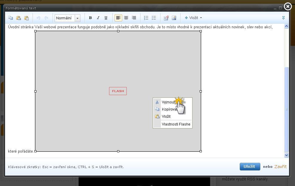 Vložení flashového souboru