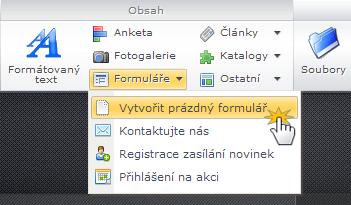 Vytvořit formulář