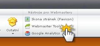 Vložit ověřovací kód Webmaster Tools