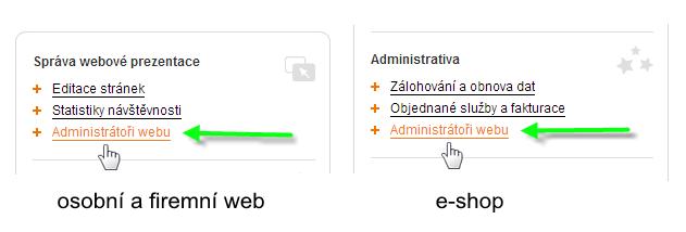 Zpřístupnění administrace webu dalším osobám