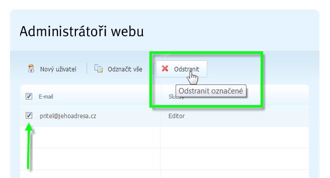 Zpřístupnění editace webu dalším osobám