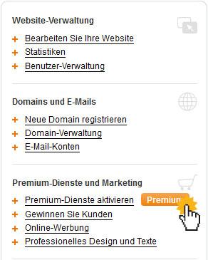 Wie kann ich Premium-Dienste bestellen?